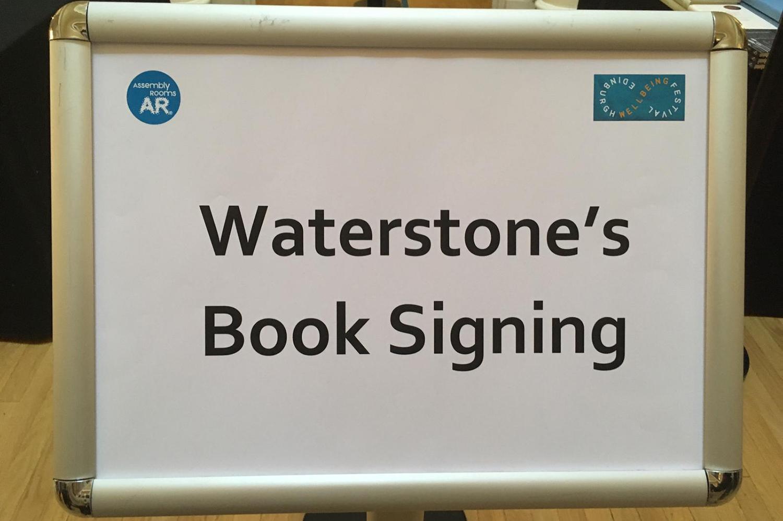 Waterstones book signing