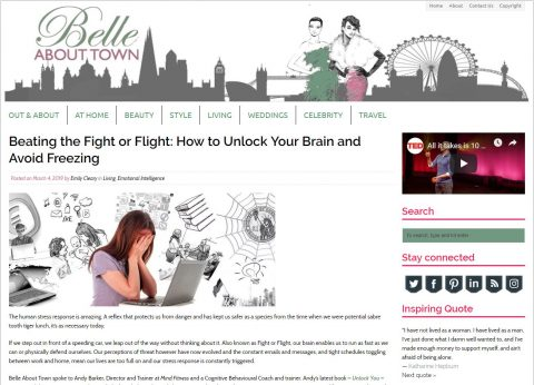 Belle About Town article